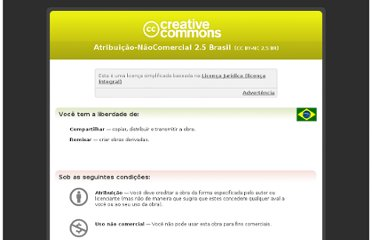 http://creativecommons.org/licenses/by-nc/2.5/br/