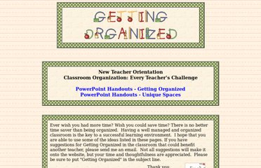 http://www.ourclassweb.com/sites_for_teachers_getting_organized.htm