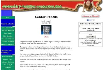 http://www.elementary-teacher-resources.com/center-pencils.html