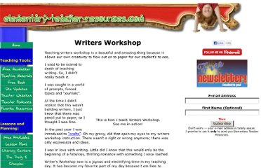 http://www.elementary-teacher-resources.com/writers_workshop.html