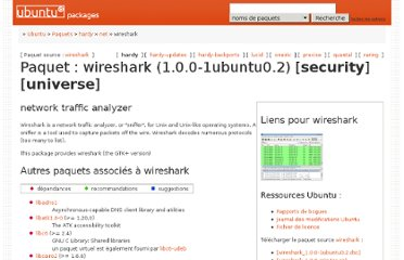 http://packages.ubuntu.com/fr/hardy/wireshark