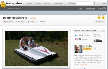 http://www.instructables.com/id/10-HP-Hovercraft/