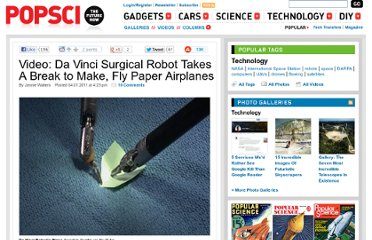 http://www.popsci.com/technology/article/2011-04/video-da-vinci-surgical-robot-takes-break-make-fly-paper-airplanes