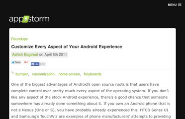 http://android.appstorm.net/roundups/customize-every-aspect-of-your-android-experience/