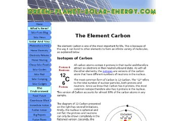 http://www.green-planet-solar-energy.com/the-element-carbon.html