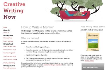 http://www.creative-writing-now.com/how-to-write-a-memoir.html