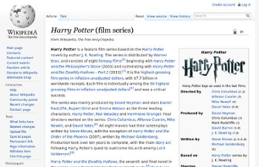 http://en.wikipedia.org/wiki/Harry_Potter_%28film_series%29