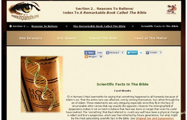 http://www.inplainsite.org/html/scientific_facts_in_the_bible.html