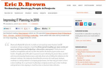 http://ericbrown.com/improving-it-planning-in-2010.htm