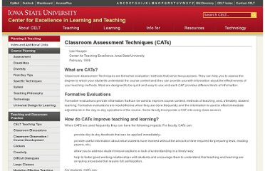 http://www.celt.iastate.edu/teaching/cat.html
