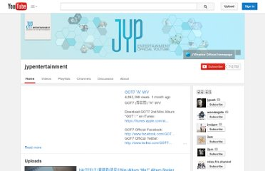 http://www.youtube.com/user/jypentertainment