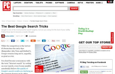 http://www.pcmag.com/slideshow/story/263028/the-best-google-search-tricks