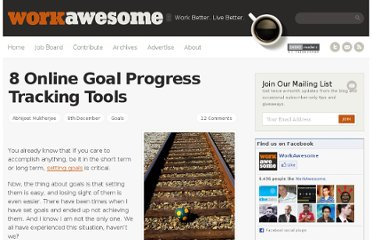 http://workawesome.com/goals/online-goal-tracking-tools/