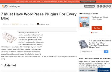 http://www.1stwebdesigner.com/wordpress/basic-wordpress-plugins-every-blog/