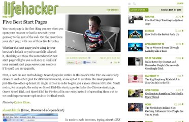 http://lifehacker.com/5476420/five-best-start-pages