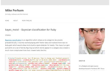 http://www.mikeperham.com/2010/04/28/bayes_motel-bayesian-classification-for-ruby/