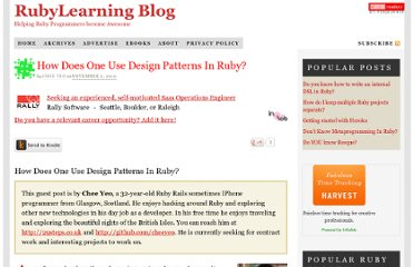 http://rubylearning.com/blog/2010/11/02/how-does-one-use-design-patterns-in-ruby/