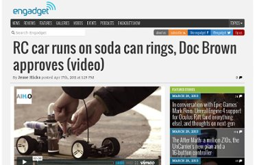 http://www.engadget.com/2011/04/17/radio-control-car-runs-on-soda-can-rings-doc-brown-approves-vi/