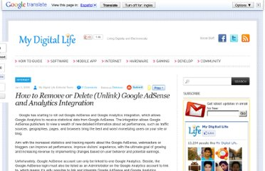 http://www.mydigitallife.info/how-to-remove-or-delete-unlink-google-adsense-and-analytics-integration/