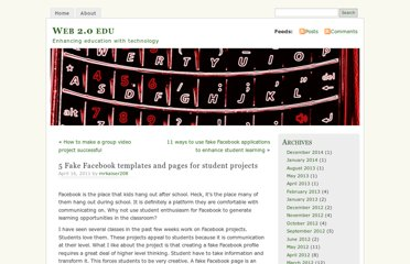http://web20edu.com/2011/04/16/fake-facebook-templates-and-pages-for-student-projects/