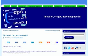 http://epnmons.be/index.php/animations-enfants/dcouvrir-lart-en-samusant
