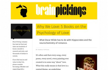 http://www.brainpickings.org/index.php/2011/04/18/5-must-read-books-on-love/