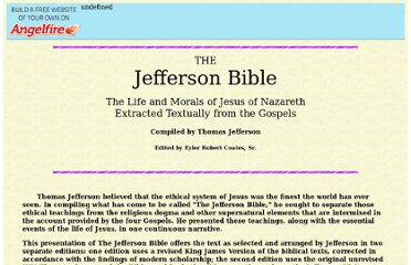 http://www.angelfire.com/co/JeffersonBible/
