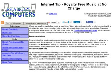 http://www.seabreezecomputers.com/tips/freemusic.htm
