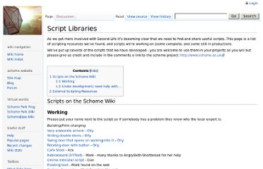http://www.schome.ac.uk/wiki/Script_Libraries