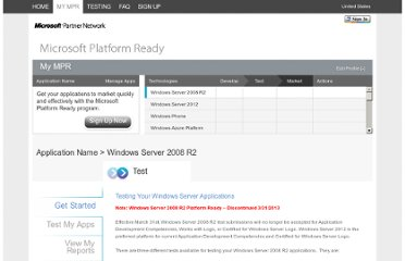 http://www.microsoftplatformready.com/us/Dashboard.aspx?wa=wsignin1.0&prompt=true
