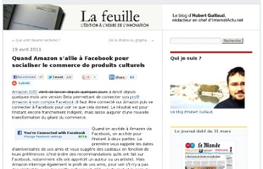 http://lafeuille.blog.lemonde.fr/2011/04/19/amazon-sallie-a-facebook-pour-socialiser-le-marketing-culturel/