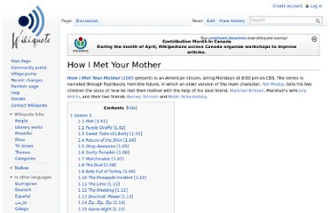 http://en.wikiquote.org/wiki/How_I_Met_Your_Mother