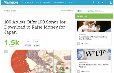 http://mashable.com/2011/04/19/songs-of-love-for-japan/