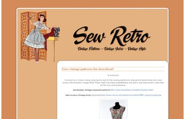 http://sewretro.blogspot.com/2009/04/free-vintage-sewing-patterns.html