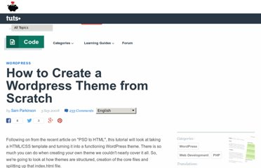 http://net.tutsplus.com/tutorials/wordpress/how-to-create-a-wordpress-theme-from-scratch/