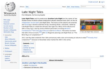http://en.wikipedia.org/wiki/Late_Night_Tales