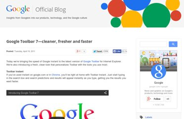 http://googleblog.blogspot.com/2011/04/google-toolbar-7cleaner-fresher-and.html