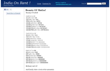 http://www.indiaonrent.com/view/b/beauty-of-maths.html