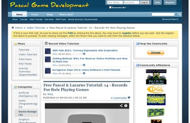 http://www.pascalgamedevelopment.com/content.php?210-Free-Pascal-Lazarus-Tutorial-14-Records-For-Role-Playing-Games