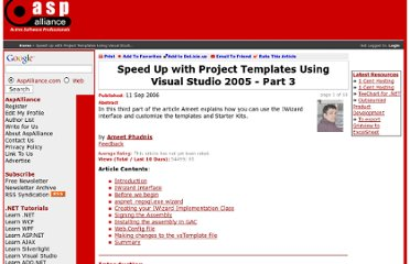 http://aspalliance.com/1001_Speed_Up_with_Project_Templates_Using_Visual_Studio_2005__Part_3