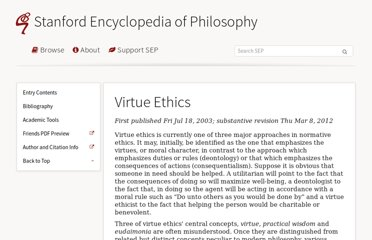 http://plato.stanford.edu/entries/ethics-virtue/