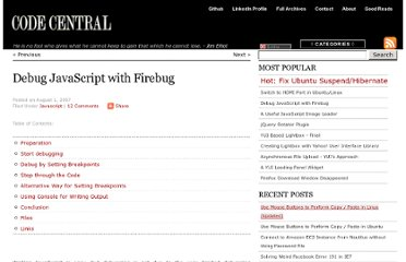 http://thecodecentral.com/2007/08/01/debug-javascript-with-firebug