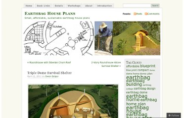 http://earthbagplans.wordpress.com/2011/04/12/triple-dome-survival-shelter/