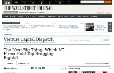 http://blogs.wsj.com/venturecapital/2011/03/09/the-next-big-thing-which-vc-firms-hold-top-bragging-rights/#
