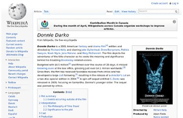 http://en.wikipedia.org/wiki/Donnie_Darko