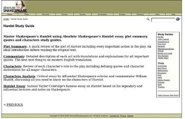 Shakespeare Hamlet Summary