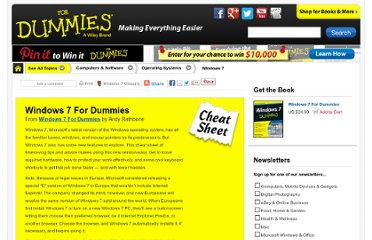 http://www.dummies.com/how-to/content/windows-7-for-dummies-cheat-sheet.html