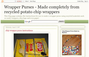 http://candywrapperpurse.blogspot.com/2007/08/chip-wrapper-purse.html