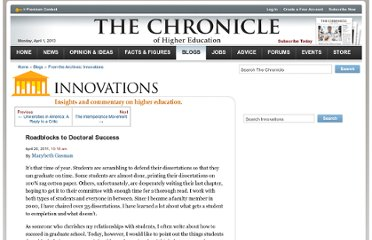 http://chronicle.com/blogs/innovations/road-blocks-to-doctoral-success/29255