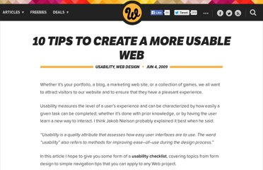 http://www.webdesignerdepot.com/2009/06/10-tips-to-create-a-more-usable-web/